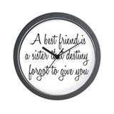 Best Friend Wall Clock