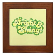 Bright and Shiny Framed Tile