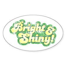 Bright and Shiny Oval Sticker