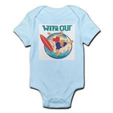 Wipe Out Surfer Infant Bodysuit