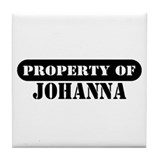 Property of Johanna Tile Coaster