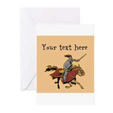 Customizable Knight on Horse Greeting Cards (Pk of
