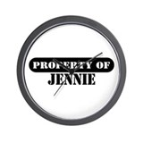 Property of Jennie Wall Clock