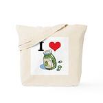 I Heart (Love) Green Olives Tote Bag