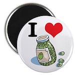 I Heart (Love) Green Olives Magnet