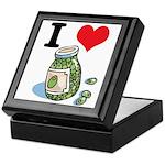 I Heart (Love) Green Olives Keepsake Box