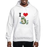 I Heart (Love) Green Olives Hooded Sweatshirt