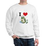 I Heart (Love) Green Olives Sweatshirt