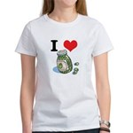 I Heart (Love) Green Olives Women's T-Shirt
