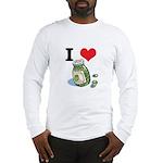 I Heart (Love) Green Olives Long Sleeve T-Shirt