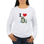 I Heart (Love) Green Olives Women's Long Sleeve T-
