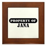 Property of Jana Framed Tile