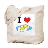 I Heart (Love) Fried Eggs Tote Bag