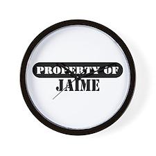 Property of Jaime Wall Clock