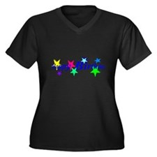 Happy Birthday with Stars Plus Size T-Shirt