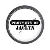 Property of Jaclyn Wall Clock