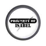Property of Isabel Wall Clock
