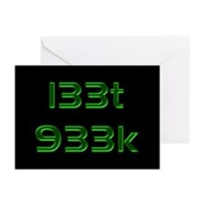 l33t 933k - Greeting Cards (Pk of 10)