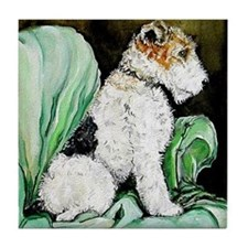 "Fox Terrier ""Waiting"" Tile Coaster"