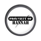 Property of Hannah Wall Clock