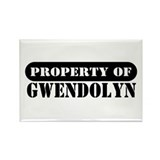 Property of Gwendolyn Rectangle Magnet