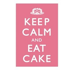 Keep Calm And Eat Cake Postcards (Package of 8)