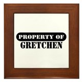 Property of Gretchen Framed Tile