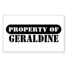 Property of Geraldine Rectangle Decal
