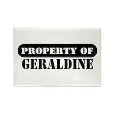 Property of Geraldine Rectangle Magnet