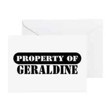 Property of Geraldine Greeting Cards (Pk of 10