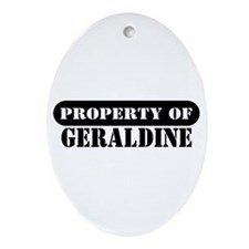 Property of Geraldine Oval Ornament