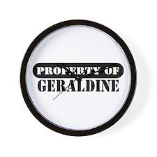 Property of Geraldine Wall Clock