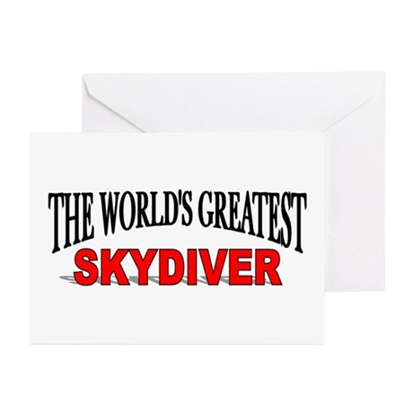 """The World's Greatest Skydiver"" Greeting Cards (Pa"