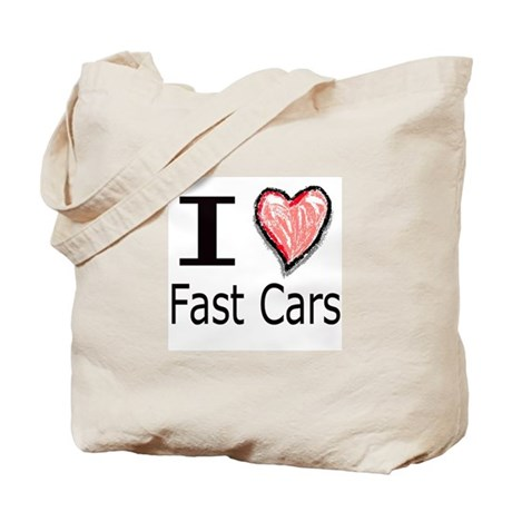 I Heart Fast Cars Tote Bag
