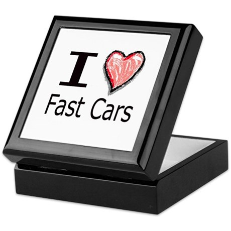 I Heart Fast Cars Keepsake Box