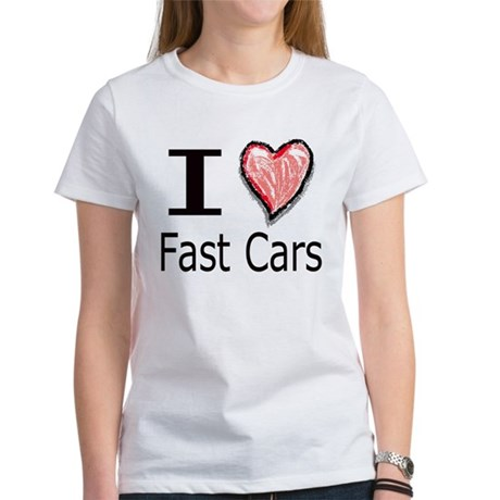 I Heart Fast Cars Women's T-Shirt