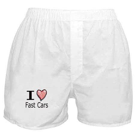 I Heart Fast Cars Boxer Shorts