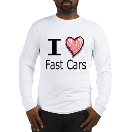 I Heart Fast Cars Long Sleeve T-Shirt