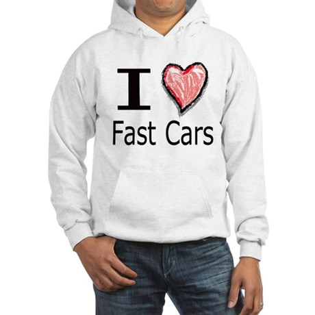 I Heart Fast Cars Hooded Sweatshirt
