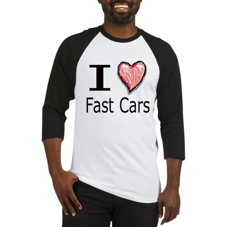 I Heart Fast Cars Baseball Jersey