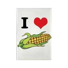 I Heart (Love) Corn (On the Cob) Rectangle Magnet