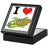 I Heart (Love) Corn (On the Cob) Keepsake Box