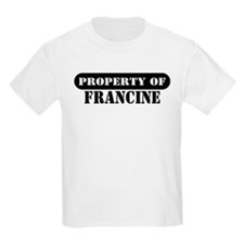 Property of Francine Kids T-Shirt
