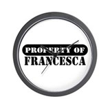 Property of Francesca Wall Clock