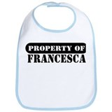 Property of Francesca Bib