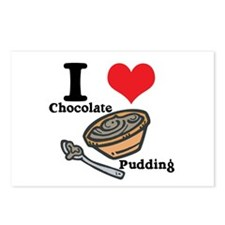 I Heart (Love) Chocolate Pudding Postcards (Packag