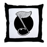 Wing Note Throw Pillow