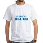 more BLUES White T-Shirt