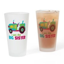 I am the Big Sister - Tractor Drinking Glass