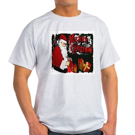 Merry Christmas Ash Grey T-Shirt